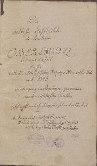 Die älteste Geschichte der heutigen Oberlausitz bis 1346