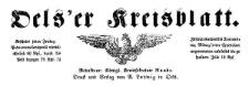Oelser Kreisblatt 1877-10-26 Jg. 15 Nr 45