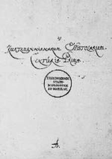 Kurtzmannianarum Epistolarum Centuria Prima