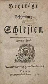 Beyträge zur Beschreibung von Schlesien Bd.2 1783