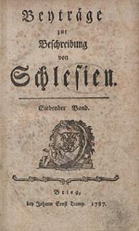 Beyträge zur Beschreibung von Schlesien Bd.7 1787