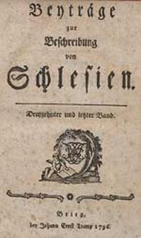 Beyträge zur Beschreibung von Schlesien Bd.13 1796