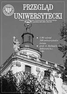 Przegląd Uniwersytecki (Wrocław) R.11 Nr 10 (115) październik 2005