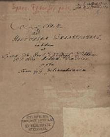 Collegium ad historiam Brandenburgensem ; Entwurt der brandenburgischen historie ... ; Collegium historicum...