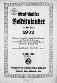 Graffschafter Volkskalender für das Jahr 1932, Jg.9