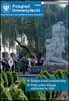 Przegląd Uniwersytecki (Wrocław) R.14 Nr 11 (152) listopad 2008