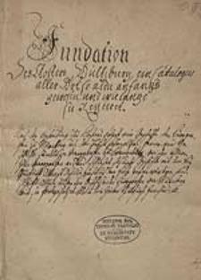 Fundation des Klosters Wülzburg ...