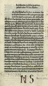 Indulgentiae ecclesiarum principalium urbis Romae.