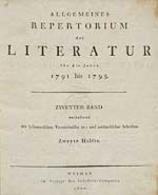 Allgemeines Repertorium der Literatur [...]