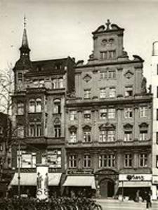 Blücherplatz 4 u. 5 zu Breslau, vor der Bereinigung der Gebäudefront