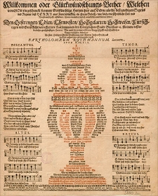 Poculum bonae fortunae, Willkommen oder Glueckwuendschungs-Becher [...] den [...] Herren Rathmannen der [...] Stadt Bresslaw [...] wie auch der [...] Burgerschafft und Christlichen Gemein daselbsten [...] an statt heiligen Christs-Bescherung und Newen Jahrs-Geschenck [...] uberreichet durch Bartholomaeum Rothmmannum [...].