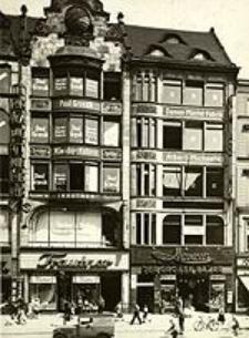 Ring 48/49 zu Breslau, Okt. 1931 (Reklame, der Inhabername Paul Grzesik 10 Mal über 3 Etagen, dazu Herrenkleiderfabrik 7 Mal