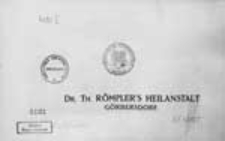 Doktor Theodor Römpler's Heilanstalt Görbersdorf