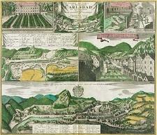 Grundriss und Prospect des Welt-berühmten Carlsbad, mit unterschiedlichen Gegenden [...]