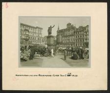 Markttreiben auf dem Blücherpl. i. J. 1908.