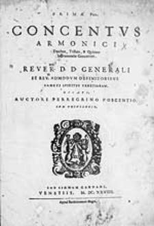 Concentus armonici duobus, tribus, & quatuor instrumentis concertati [...]