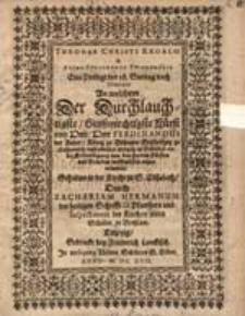 Thronus Christi regalis et arcus Ferdinandi triumphalis : eine Predigt d. 18. Sonntag nach Trinitatis, an welchem [...] Ferdinandus der Ander, König zu Böhmen[…].,