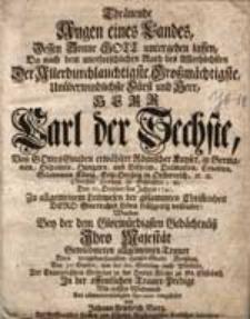 Thraenende Augen eines Landes [...] Der Allerdurchlauchtigste, Grossmaechtigste, Unueberwindlichste Fuerst und, Herr Karl der Sechste...