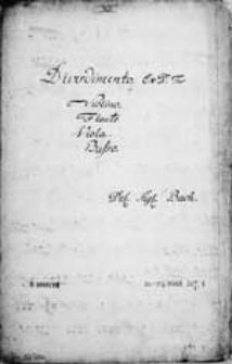 Divertimento. Ex D. [...] Del. Sigr. Bach