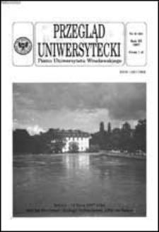 Przegląd Uniwersytecki (Wrocław) R.3 Nr 6 (20) 1997