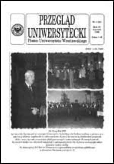 Przegląd Uniwersytecki (Wrocław) R.4 Nr 1 (24) styczeń 1998