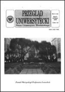Przegląd Uniwersytecki (Wrocław) R.5 Nr 11 (44) listopad 1999