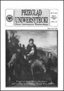Przegląd Uniwersytecki (Wrocław) R.5 Nr 12 (45) grudzień 1999