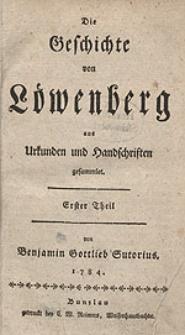 Die Geschichte von Löwenberg aus Urkunden und Handschriften gesammlet.