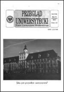 Przegląd Uniwersytecki (Wrocław) R.6 Nr 9 (54) wrzesień 2000