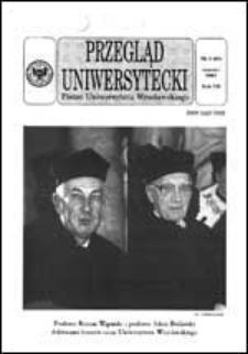 Przegląd Uniwersytecki (Wrocław) R.7 Nr 3 (60) marzec 2001