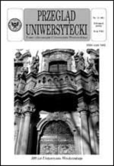Przegląd Uniwersytecki (Wrocław) R.8 Nr 11 (80) listopad 2002