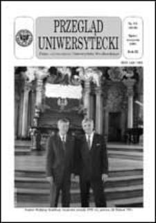 Przegląd Uniwersytecki (Wrocław) R.9 Nr 7-8 (88-89) lipiec-sierpień 2003