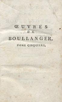 Oeuvres de Boullanger [...]. T.5
