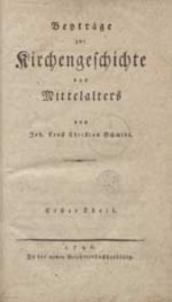 Beyträge zur Kirchengeschichte des Mittelalters [...].
