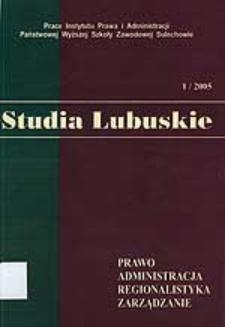 Marian Miłek, Wybrane problemy administracji publicznej, Sulechów 2004, Państwowa Wyższa Szkoła Zawodowa w Sulechowie, ss. 164 - recenzja