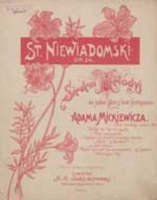 Dwa słowa [z cyklu:] Siedem melodyj : na jeden głos z tow. fortepianu do słów Adama Mickiewicza : op. 24.