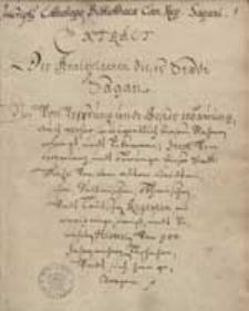 Extract der Antiquiteten dieser Stadt Sagan (bis zum Jahr 1615)i