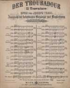 Romanze : Einsam stecht' ich verlassen = Deserto sulla terra : [z] Il Trovatore : Oper von J. Verdi : No. 16.