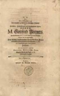 Den Am 23 Martius 1740 unvermuthet geschehenen tödtlichen Hintritt [...] Gottfried Böttners [...] beklaget [...] Gottlob Friedrich Gude [...].