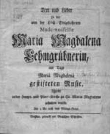 St. Maria Magdalena. Musikaufführungen