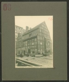 Judentempel im Pokoyhof vom Carlsplatz vor dem Abbruch. Rückseite
