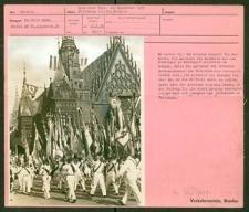 Deutsches Turn- und Sportfest Breslau 1938. Festumzug vor dem Rathaus
