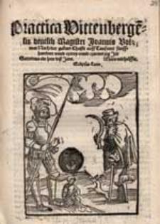 Practica Wittenberge[n]sis deutsch Magistri Joannis Volmar Nach der geburt Christi auff Tausennt funffhundert unnd czwey unnd czweintzig Jar [...].ig