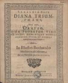 Sebaldi a Sack Diana Triumphans, Hoc Est Oratio [...] Habita In Illustri Bethaneo [...].