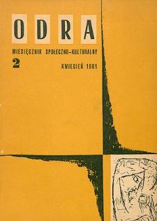 Odra (Wrocław 1961) R.1 Nr 2 kwiecień 1961 [PDF]
