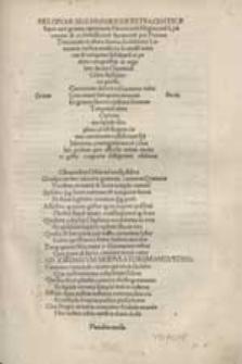 Melopoiae Sive Harmoniae Tetracenticae super xxii genera carminum Heroicoru[m], Elegiacoru[m], Lyricorum & ecclesiasticoru[m] hymnoru[m] / per Petrum Tritonium et alios doctos [...] musicos [...] ductu Chunradi Celtis [...] im presse [...].