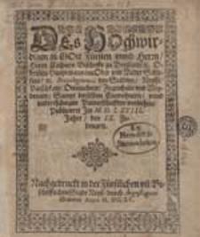 Des Hochwirdigen in Gott Fürsten und Herrn [...] Caspars Bischoffs zu Breßlaw etc. [...] Privilegium, den Stedten Neysse, Patschkaw, Ottmuchaw, Ziegenhals und Weydenaw [...].