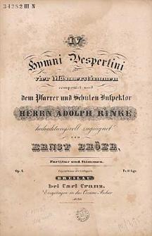 IV Hymni Vespertini : für Vier Männerstimmen : Op. 4.