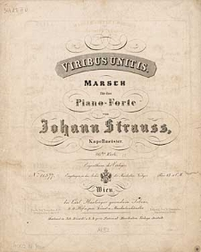 Viribus Unitis : Marsch für das Piano-Forte : 96tes Werk