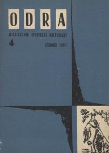 Odra (Wrocław 1961) R.1 Nr 4 czerwiec 1961 [PDF]